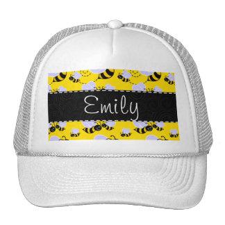 Yellow Black Bumble Bee Trucker Hat
