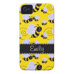 Yellow & Black Bumble Bee iPhone 4 Case-Mate Cases