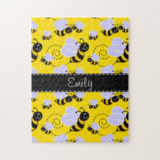 Yellow & Black Bumble Bee Jigsaw Puzzle