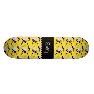Yellow Black Bumble Bee Skate Board