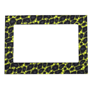 Yellow Black Cheetah Magnetic Picture Frame