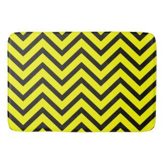 Yellow black chevron Pattern modern bath mat