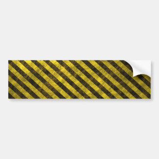 Yellow Black Chevron Stripes Bumper Sticker