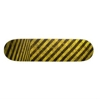 Yellow Black Chevron Stripes Skateboard