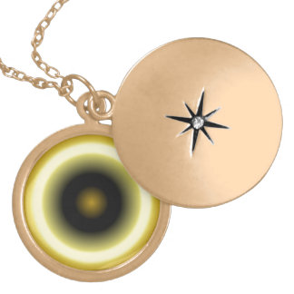 Yellow Black Circle Pattern Custom Jewelry