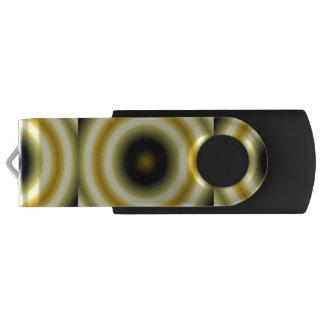Yellow Black Circle Pattern Swivel USB 3.0 Flash Drive