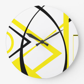 Yellow&Black Design Large Clock