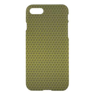 Yellow & Black Digital Honeycomb Carbon Fibre iPhone 7 Case