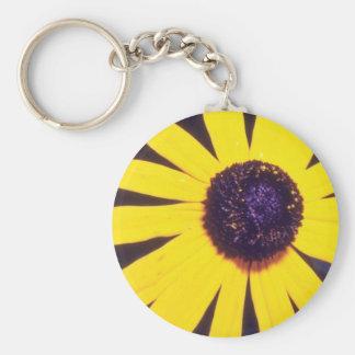 yellow Black eyed Susan flowers Key Chains