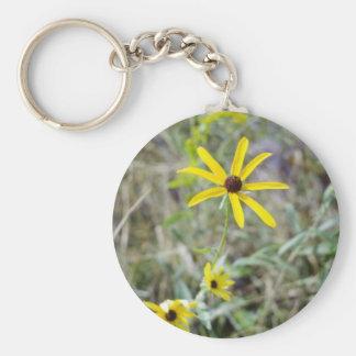 yellow Black-Eyed Susan (Rudbeckia Hirta) flowers Key Chain