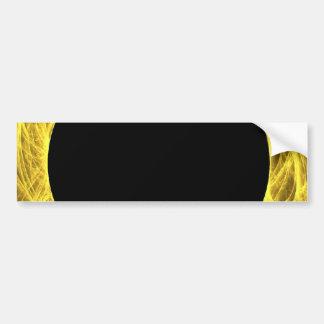 Yellow & Black Fractal Background Bumper Sticker