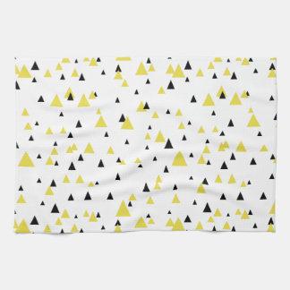Yellow & Black Geometric Pattern Kitchen Towel
