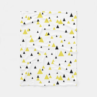Yellow & Black Geometric Pattern Personalized Fleece Blanket