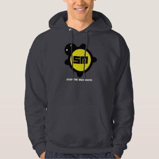 Yellow / Black on Grey Hoodie