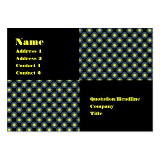yellow black pack of chubby business cards