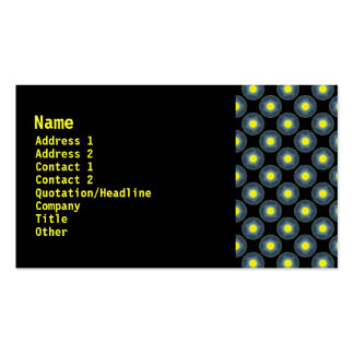 yellow black pack of standard business cards