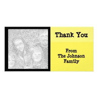 yellow black photo greeting card