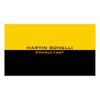 Yellow Black Special Unique Plain Clean Pack Of Standard Business Cards