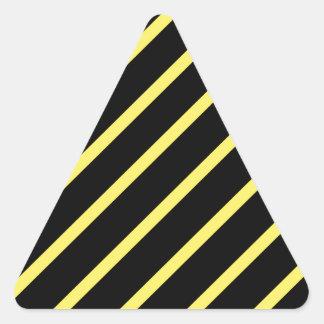 Yellow black stripes triangle sticker