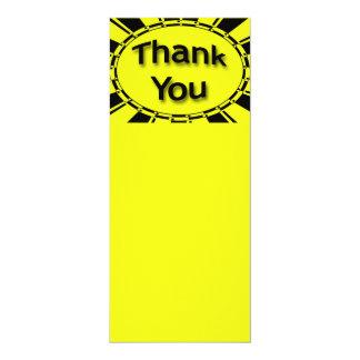 yellow black Thank you 10 Cm X 24 Cm Invitation Card