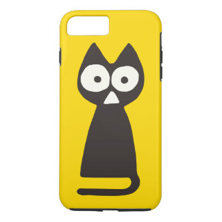 Yellow Black Triangle Symbolic Cat iPhone 7 Plus Case