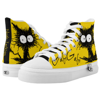 Yellow Black Unkempt Kitten GabiGabi High Tops