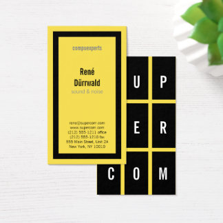 Yellow Black White BOLD Business Card
