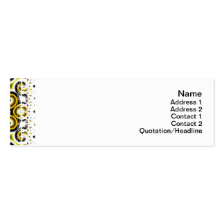Yellow Black White Waves Big Pack Of Skinny Business Cards