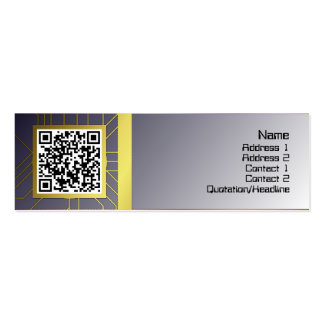 Yellow Black White Waves Inverted Big Pack Of Skinny Business Cards
