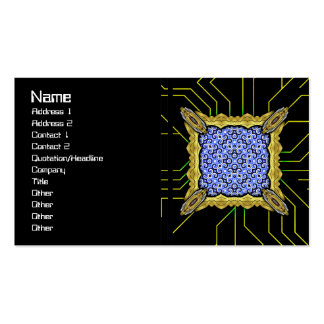 Yellow Black White Waves Inverted Big Pack Of Standard Business Cards