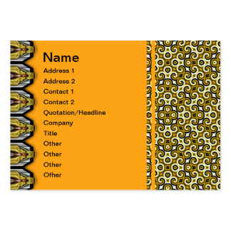 Yellow Black White Waves Small Pack Of Chubby Business Cards