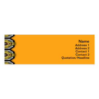 Yellow Black White Waves Small Pack Of Skinny Business Cards
