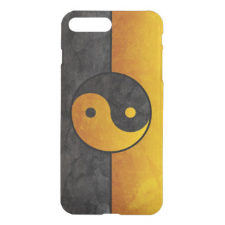 yellow black yin yang sign iPhone 7 plus case