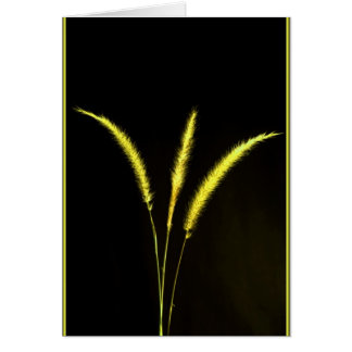 Yellow Blades Greeting Card