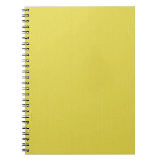 Yellow Blank Plain DIY template add text photo Notebooks