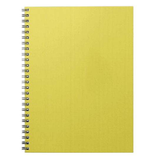 Yellow Blank Plain DIY template add text photo Notebooks