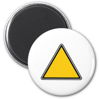 Yellow Blank Sign Magnet