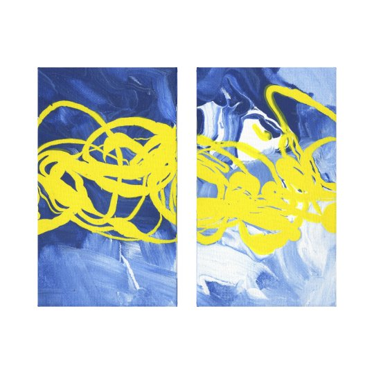 Yellow Blast Wall Decor Duel Canvas Art