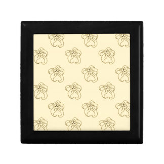 Yellow bloom small square gift box