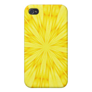 Yellow Blossom Fractal iPhone 4/4S Covers