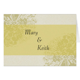 Yellow Blossom Save the Date Greeting Card