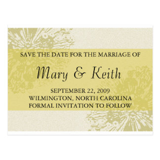Yellow Blossom Save the Date Postcard