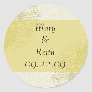 Yellow Blossom Save the Date Round Sticker