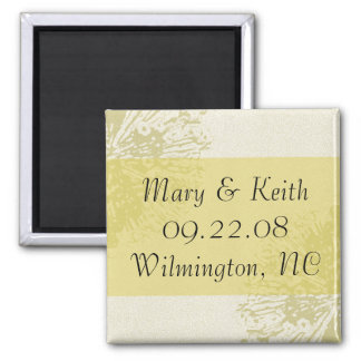 Yellow Blossom Save the Date Square Magnet
