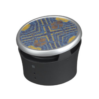 Yellow Blue Bling Abstract Speaker