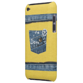 Yellow Blue Denim Print Case iPod Touch iPod Touch Case