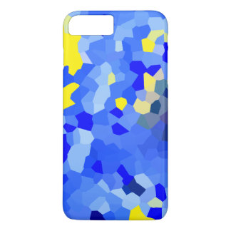 Yellow Blue Dotted iPhone Plus case