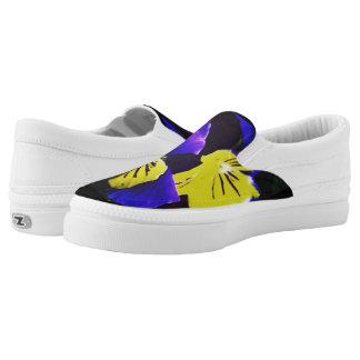 Yellow & Blue Floral Shoe