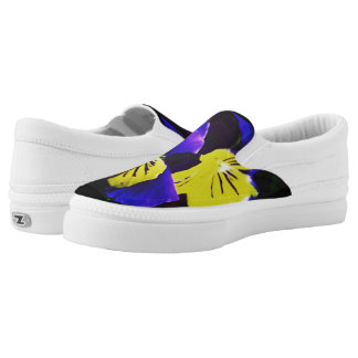 Yellow & Blue Floral Shoe Printed Shoes
