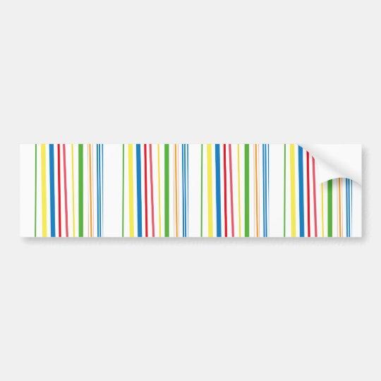 Yellow Blue Green Stripes Bumper Sticker